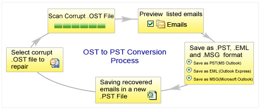OST to Outlook Process